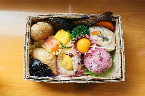 Bento to be enjoyed aboard Kawasemi Yamasemi Train, Kumamoto Prefecture, Kyushu, Japan