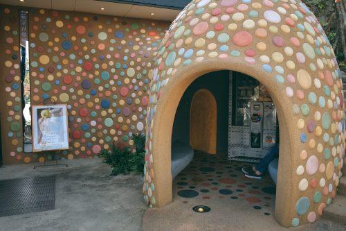 Colorful decoration in Es Koyama Rozilla chocolate shop complex, Sanda, Hyogo Prefecture, Japan