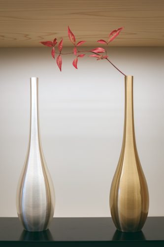 Beautiful metal vases handmade in Takaoka city, Toyama Prefecture