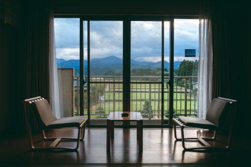 View from a room at Tsurugi Koizuki Ryokan.