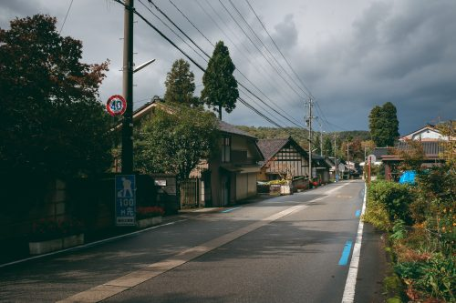 Cycling through small towns in the mountains, Toyama Prefecture