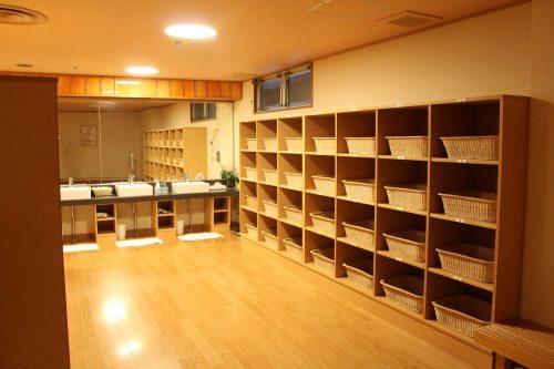 Les vestiaires de Kaminoyama Onsen, Tohoku, préfecture de Yamagata, Japon
