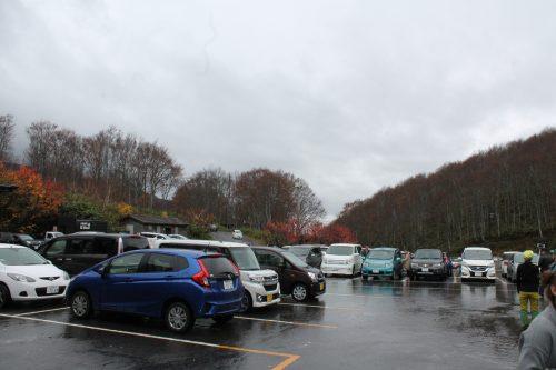 Parking de Sukayu Onsen, dans la ville d'Aomori, préfecture d'Aomori, Japon