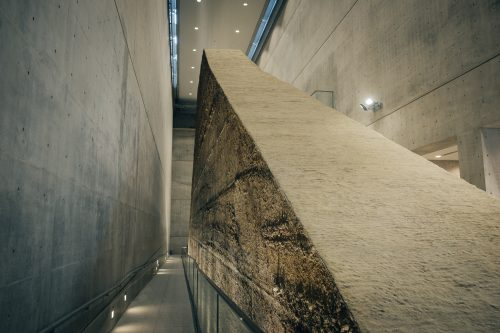 The museum of Osaka Sayamaike prefecture designed by Tadao Ando, Japanese architect from Osaka, Kinki, Japan
