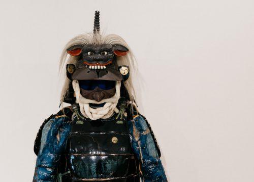 Armure de samouraï exposée au centre culturel Denshokan à Kakunodate, Senboku, Akita, Japon