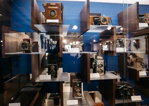 Collection d'anciens appareils photo dans la demeure de la famille Aoyagi à Kakunodate, Senboku, Akita, Japon