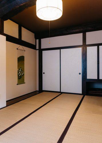 Chambres de style traditionnel japonais à la ferme Iori, Semboku, Akita, Japon