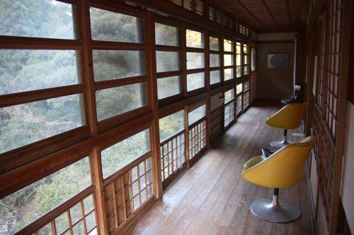 Ryokan transformé en galerie d'art à Higashisonogi, préfecture de Nagasaki, vue sur le paysage