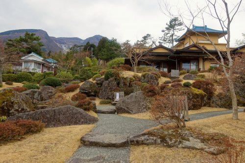Jardin japonais de mousses du Hakone Museum of Art à Hakone, Kanagawa, Japon