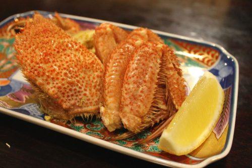 Crabe d'Hokkaido au restaurant du ryokan Yukomansou à Asahidake Onsen, Hokkaido, Japon