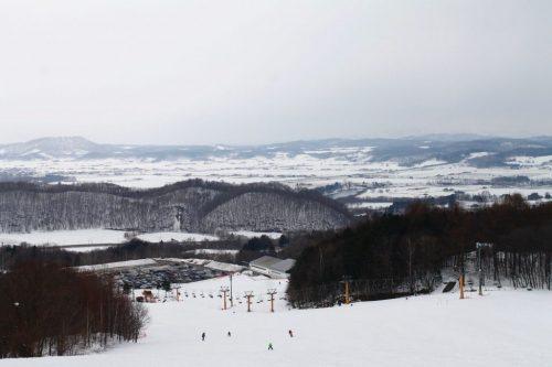 Piste de ski de la station Kamui Ski Links, sur le mont Kamui à Asahikawa, Hokkaido, Japon