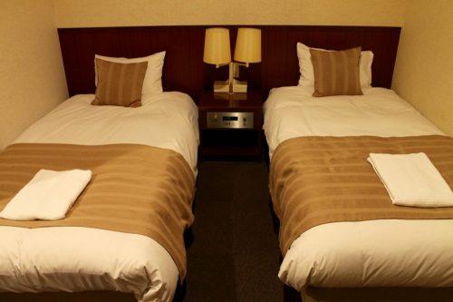 Asahikawa, Hokkaido : chambre de l'hôtel Toyo