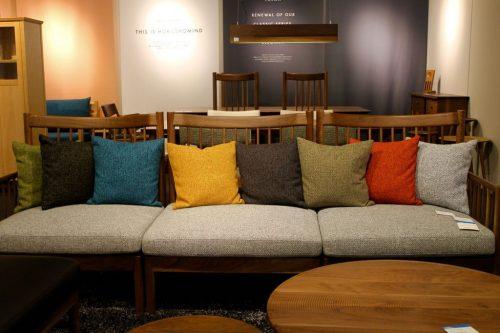 Meubles en bois exposés à l' Asahikawa Design Center, Hokkaido