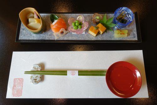 Kaiseki meal at Ryokan Shinsen in Takachiho.