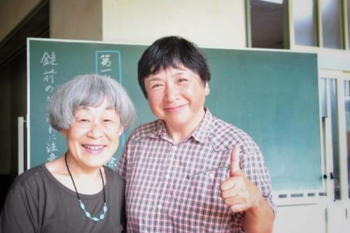 Udo san et Ikeda san, potières expérimentées d' Ojika