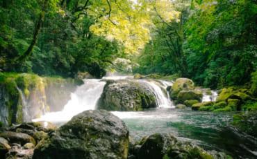 cascade dans les gorges de kikuchi, à Kumamoto
