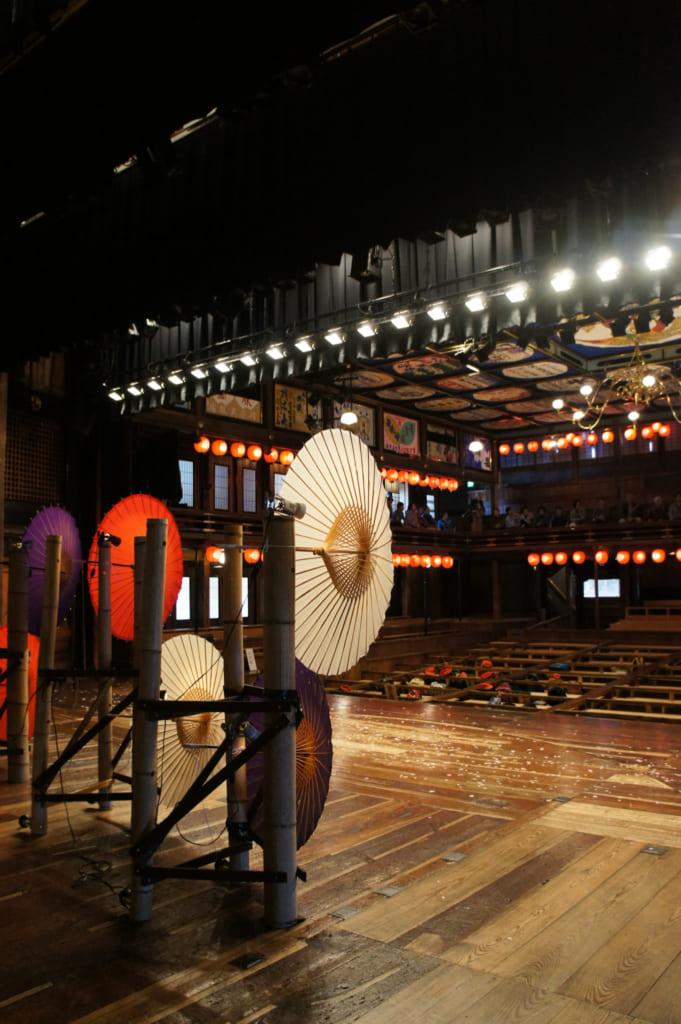 Le théâtre Yachiyo-za, vu depuis la scène