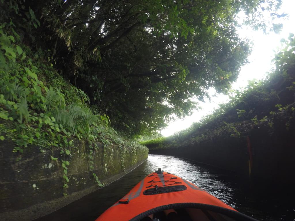 Une aventure en kayak unique dans les canaux d'irrigation, à Kumamoto