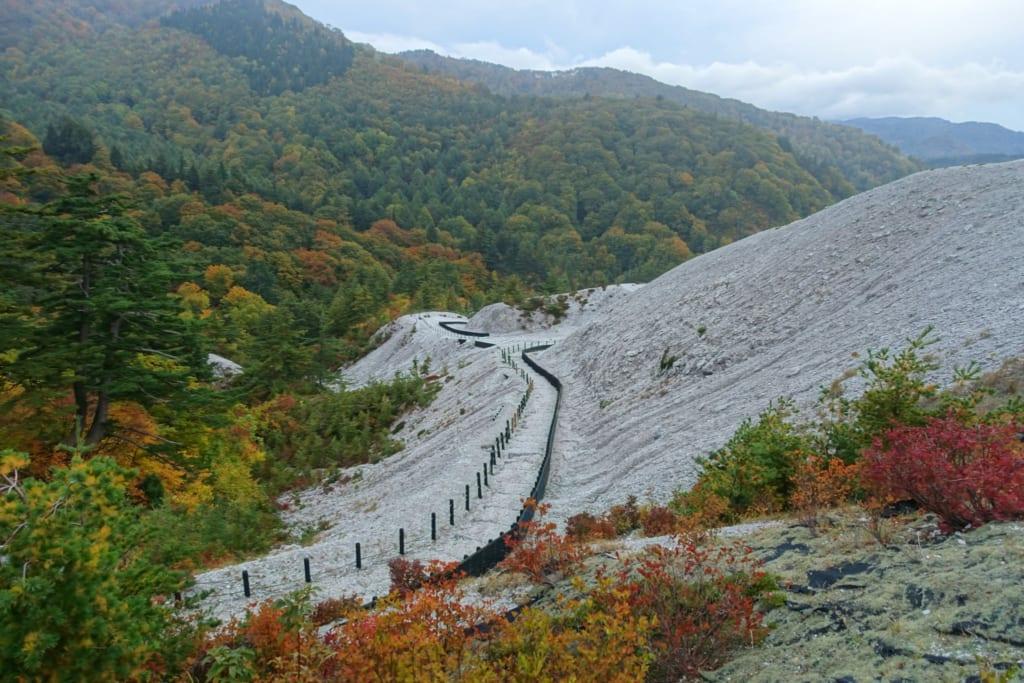 Le Kawarage Jigoku, étonnante étendue blanche au milieu des forêts luxuriantes de tohoku
