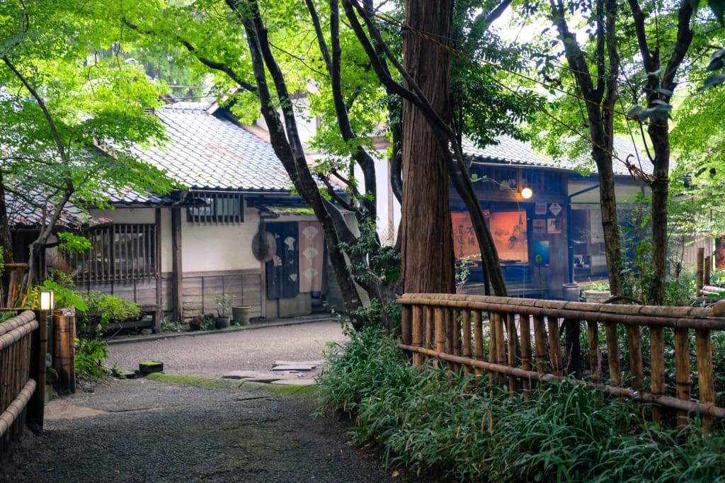 Le restaurant Takamori Dengaku Hozonkai vu depuis l'extérieur