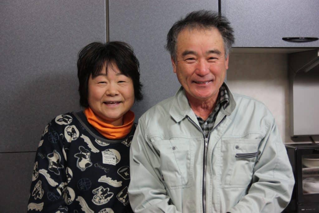 Coppia di agricoltori giapponesi