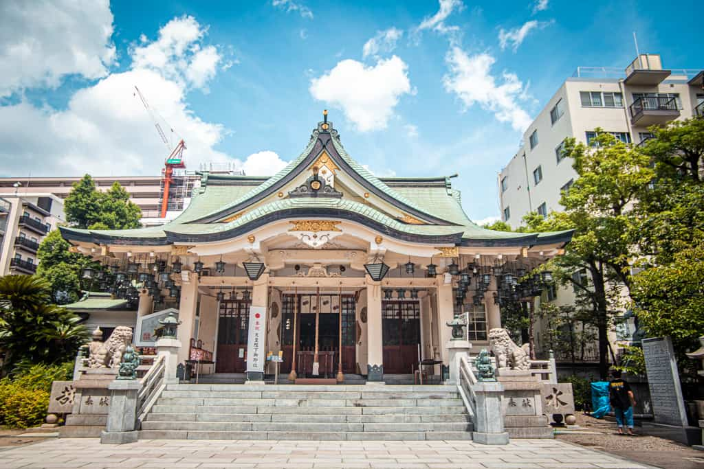 Sala principale del Santuario di Yasaka Namba, OsakaーSala principale