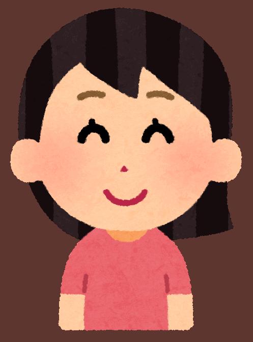 illustrazione di un personaggio femminile sorridente