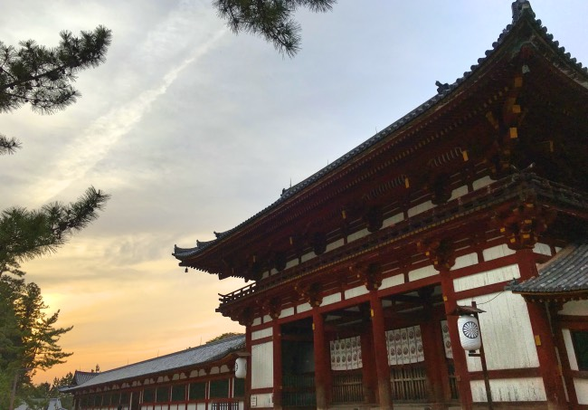 Edificio in un tempio buddista giapponese