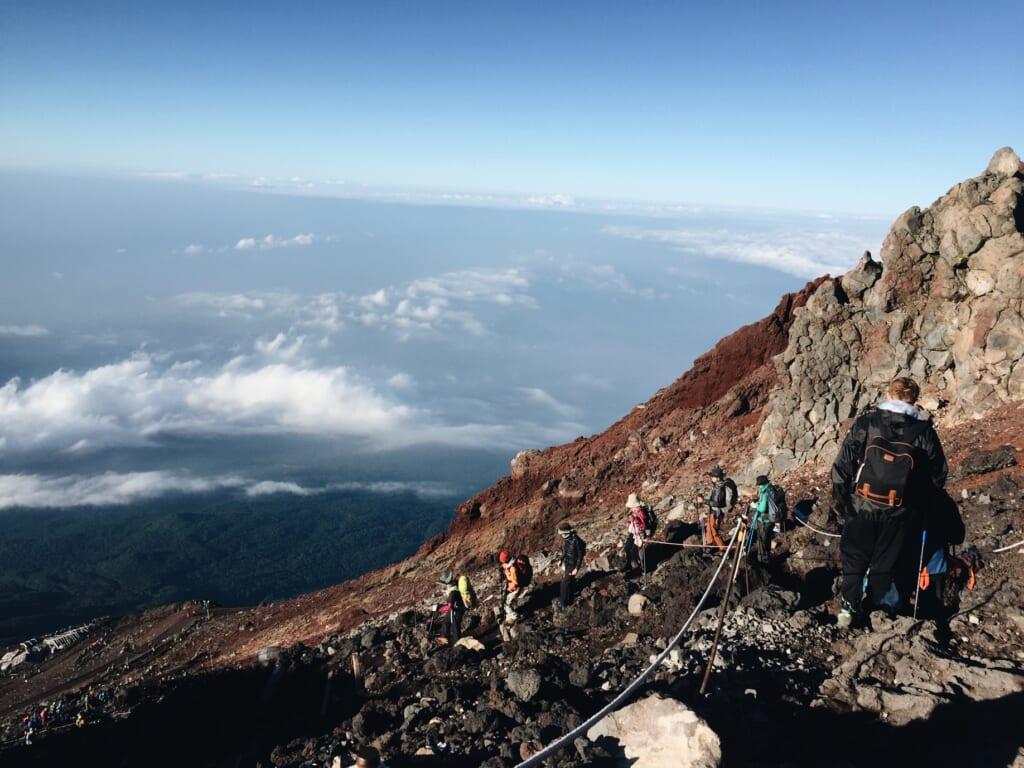 La vista dal Monte Fuji