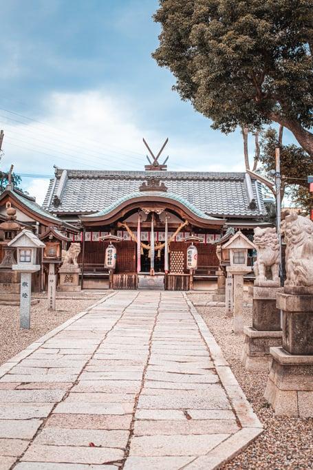 Sala principale. Santuario di Himejima, Osaka