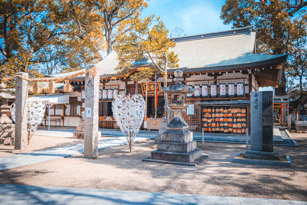Sala principale del santuario Nunose. Osaka