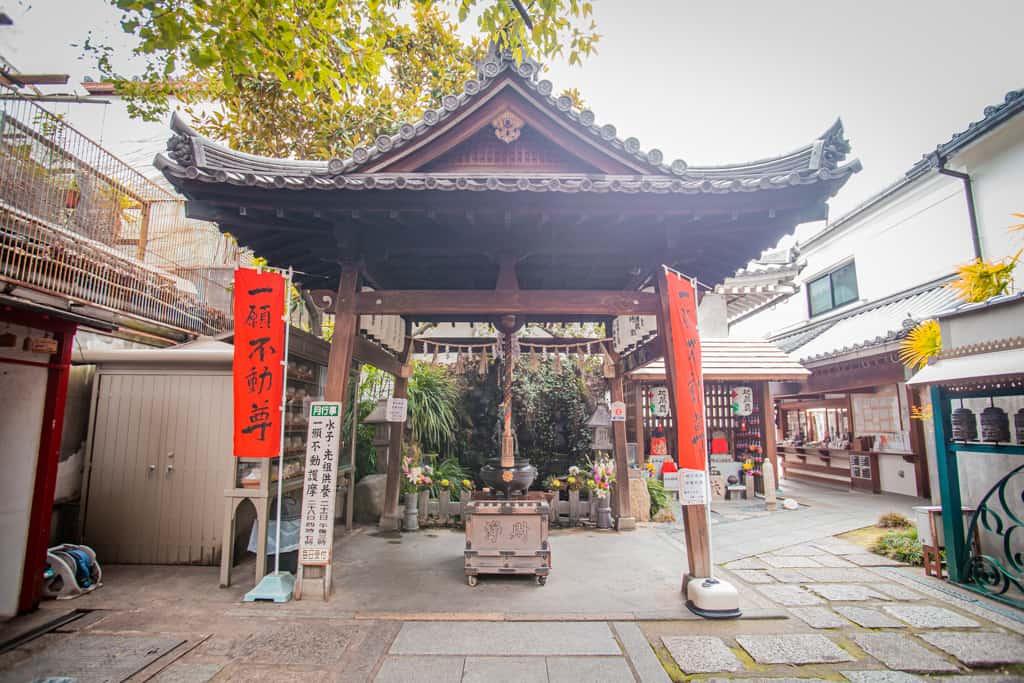 Edificio nel tempio Senkoji, Osaka