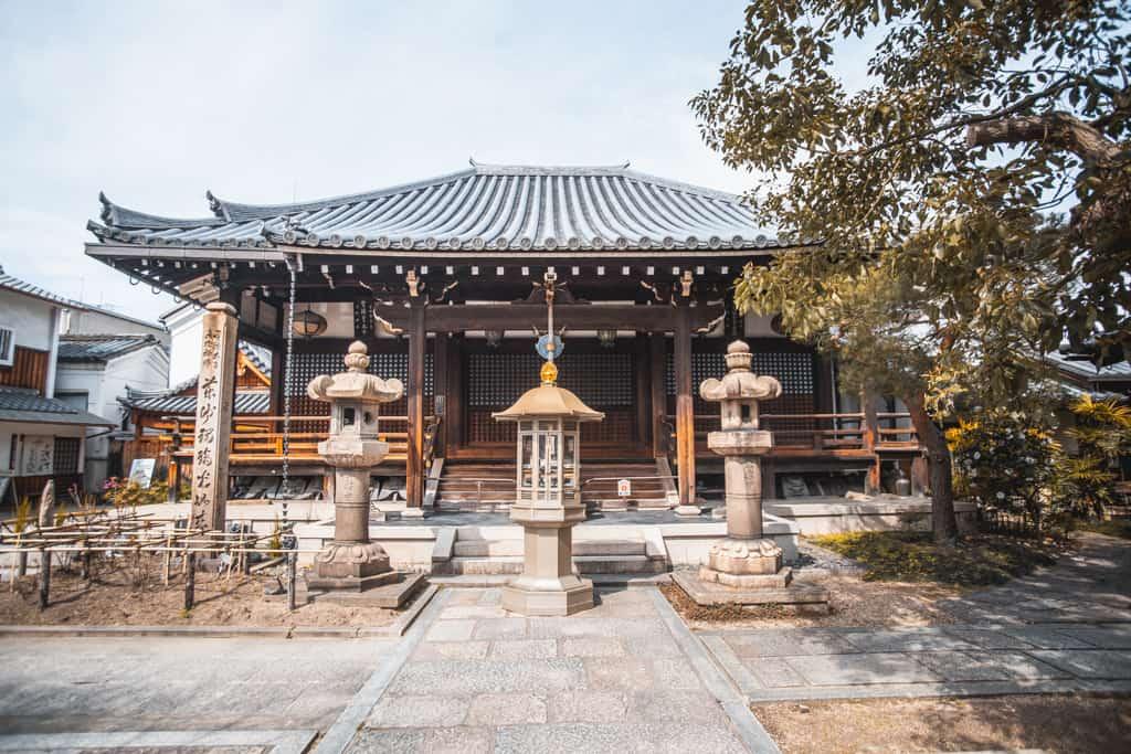 Sala principale. Tempio Senkoji, Osaka