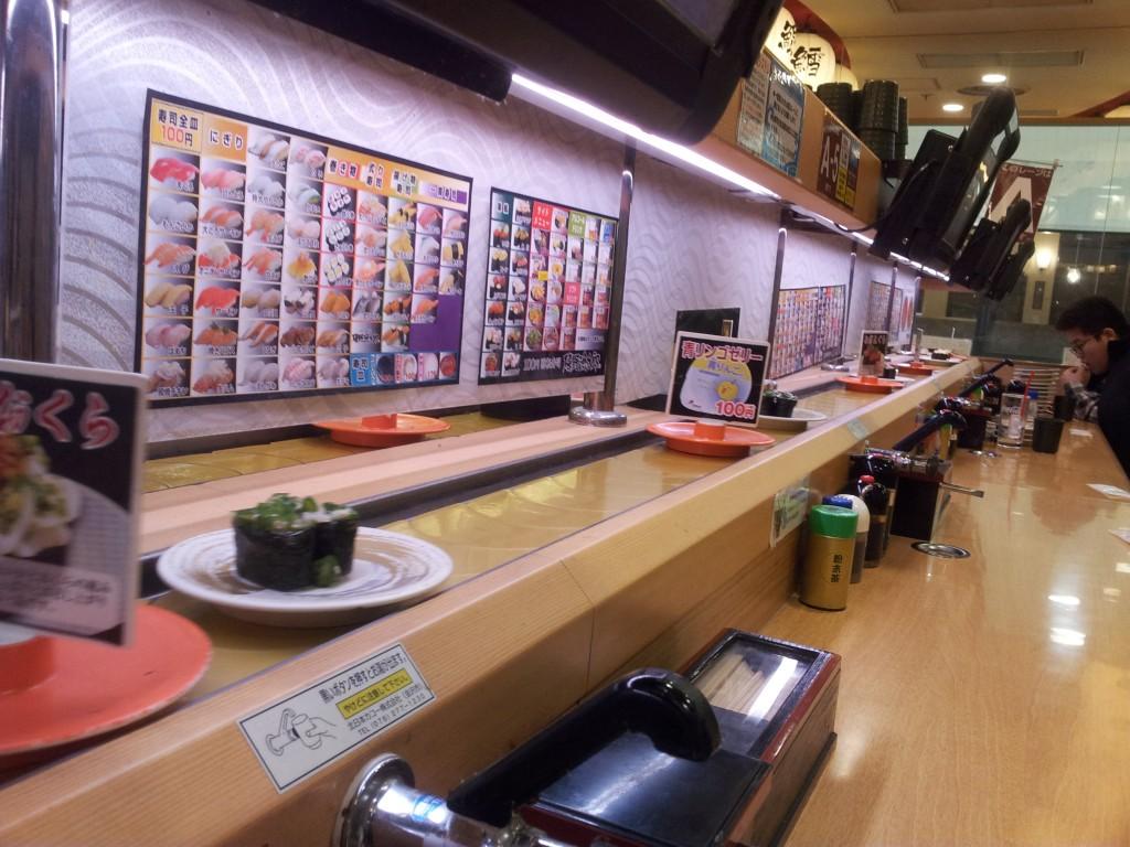 layout of a Japanese Sushi train restaurants!