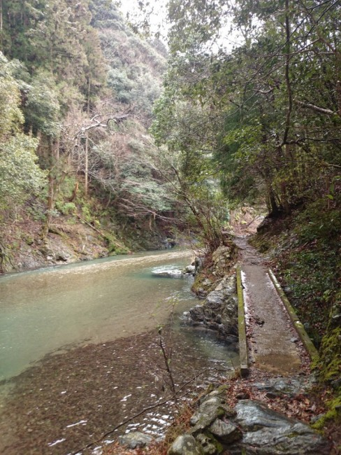 Hiking Arashiyama, outdoor stream
