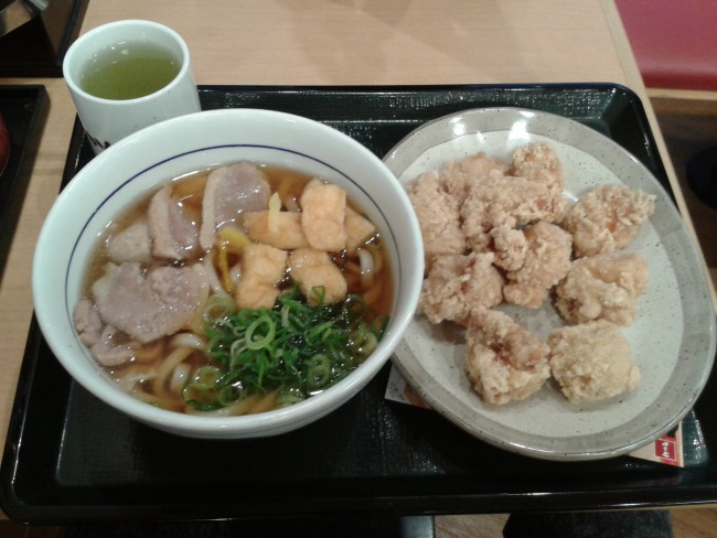 Those udon and karaage dishes has finally arrived to you