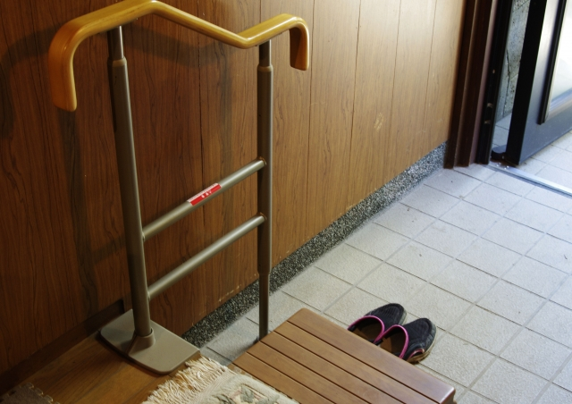 You're going to be told to take your shoes off at the small area called genkan when entering the host's house