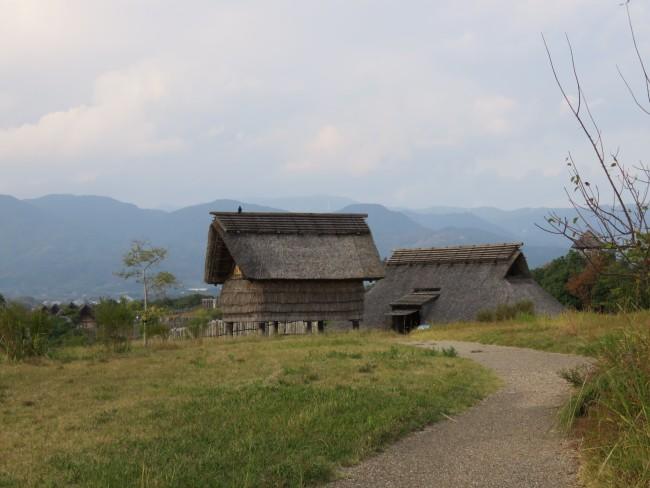 Yoshinogari Historical Park hut in the rural area