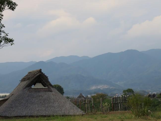 huts among the landscapeof Yoshinogari Historical Park