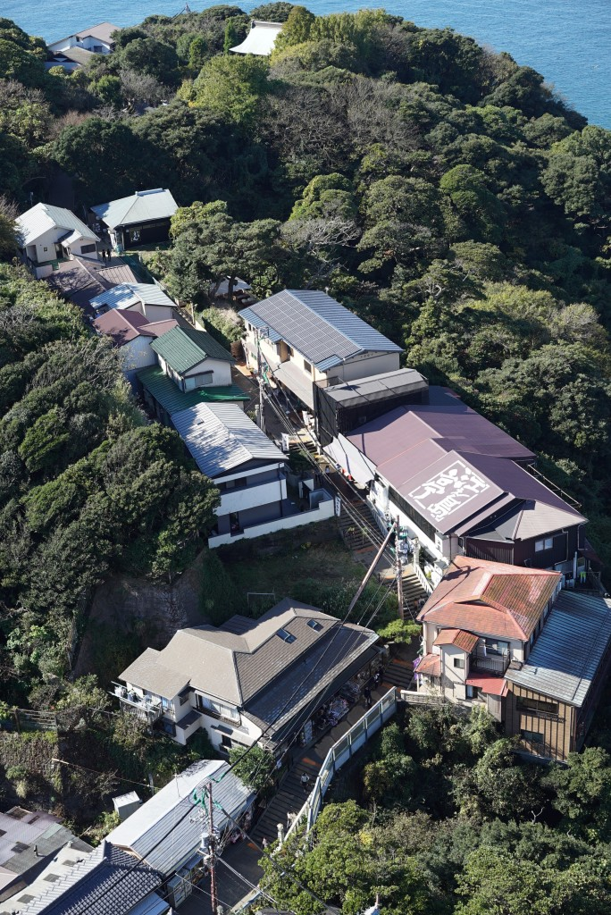 Day-trip: Enoshima town arial view