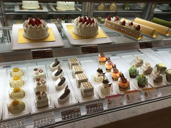 various Sweets on display from Malebranche in Kyoto