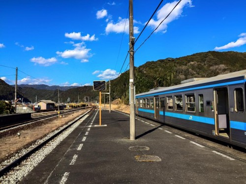 The Local train in Kochi prefecture, Japan