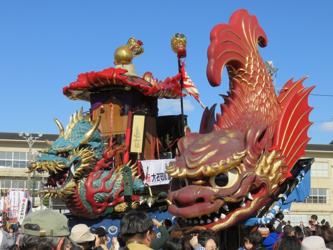 floats in Karatsu city, Saga