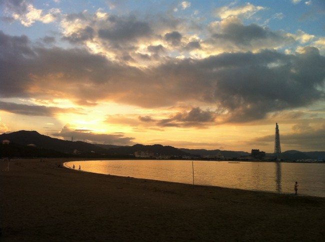 beach in Karatsu city, Saga