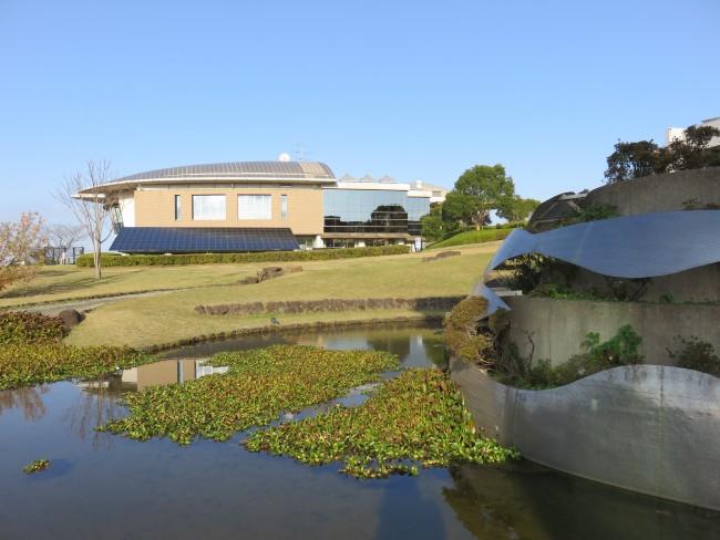 museum in the ocean Minamata seaside, Japan