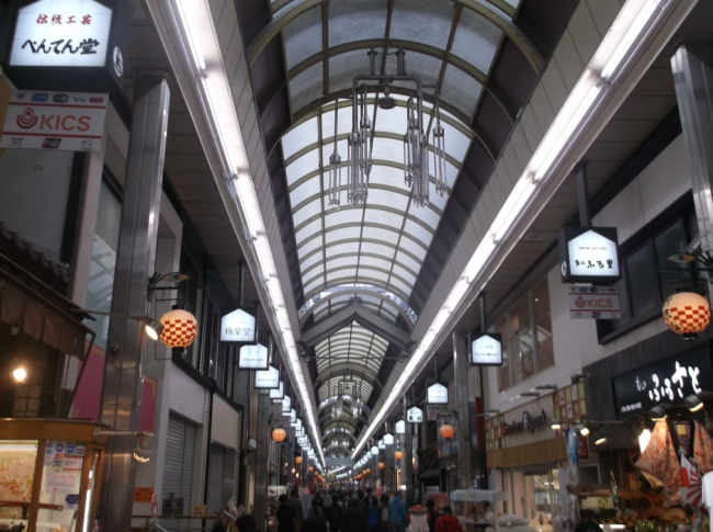 Shopping in Japan in Osaka, Namba with many business, tourism and contemporary stores.