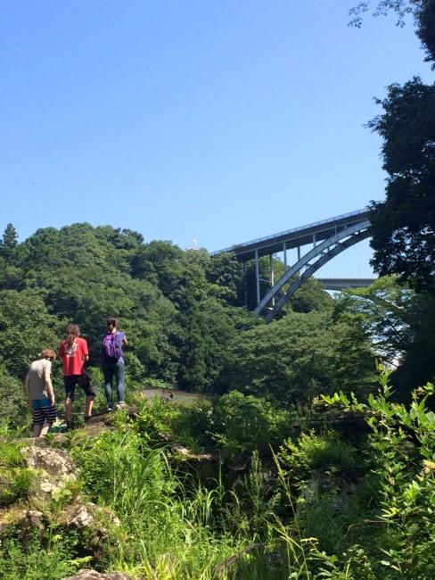 Suspended under mirthful Miyazaki sun, over Takachiho gorge