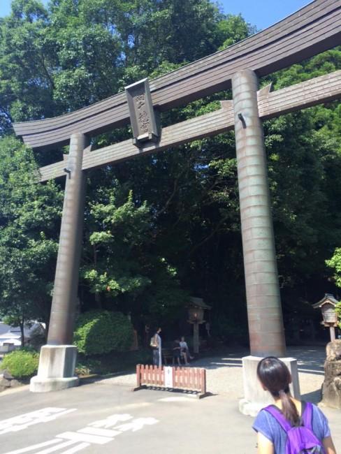 Shrine gate before Takachiho Gorge