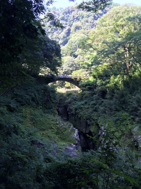 A first bridge suspended over Takachiho gorge, Miyazaki
