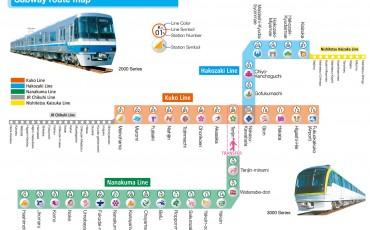 underground, map, trains, fukuoka